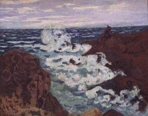 Armand Guillaumin - Storm at Agay, 1895