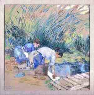 Armand Guillaumin - Two Washerwomen
