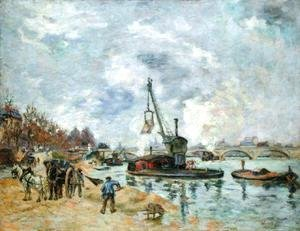 Armand Guillaumin - At the Quay de Bercy in Paris, 1874