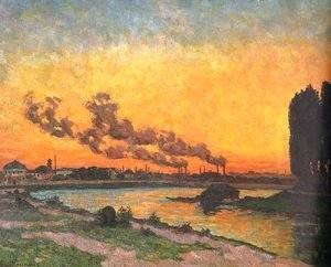 Armand Guillaumin - Setting Sun at Ivry, c.1872-73