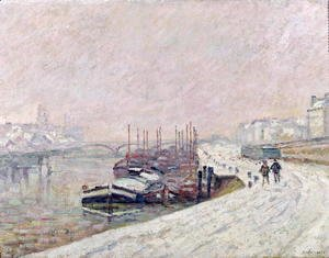 Armand Guillaumin - Snow in Rouen