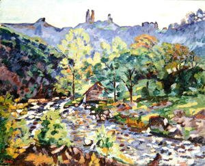 Armand Guillaumin - Ruins of the Chateau, Crozant, c.1905