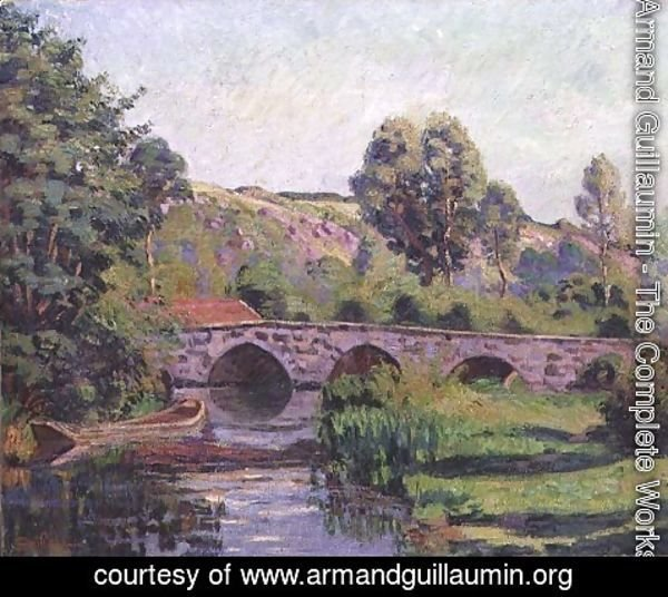 Armand Guillaumin - The Bridge at Boigneville, c.1894