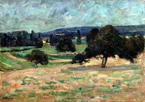 Armand Guillaumin - Landscape in the Ile de France, c.1895