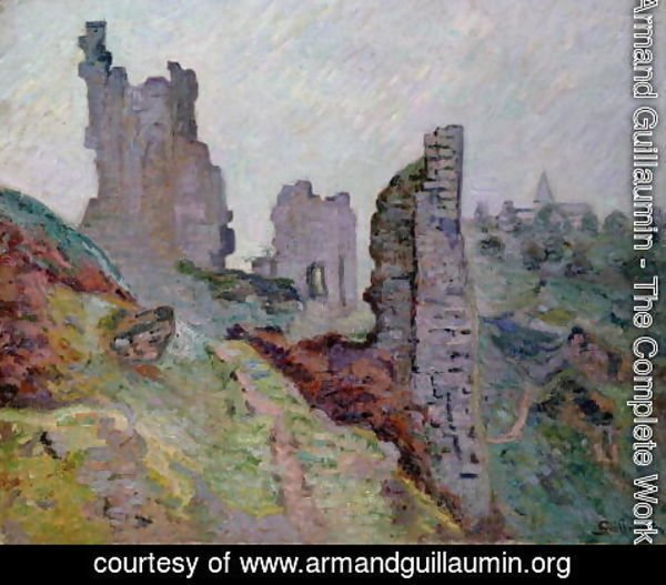 Armand Guillaumin - Ruins in the Fog at Crozant, 1894