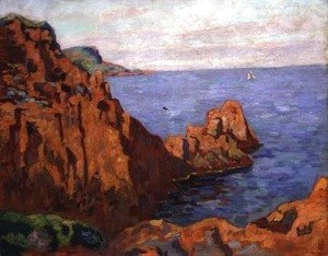 Armand Guillaumin - The Red Rocks, c.1910