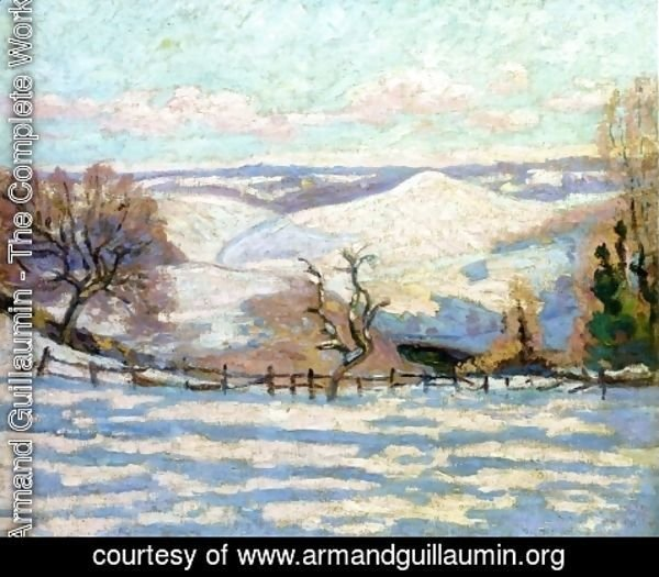 Armand Guillaumin - White Frost at Puy Barriou, Crozant
