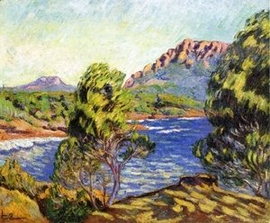 Armand Guillaumin - Agay,  the Bay during the Mistral
