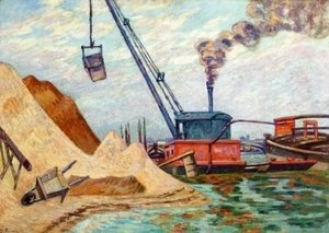 Armand Guillaumin - Sand Quarry, Quai d'Austerlitz, Morning