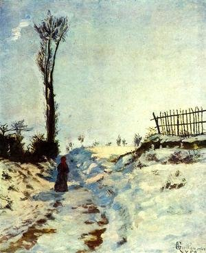 Armand Guillaumin - Road with Snow