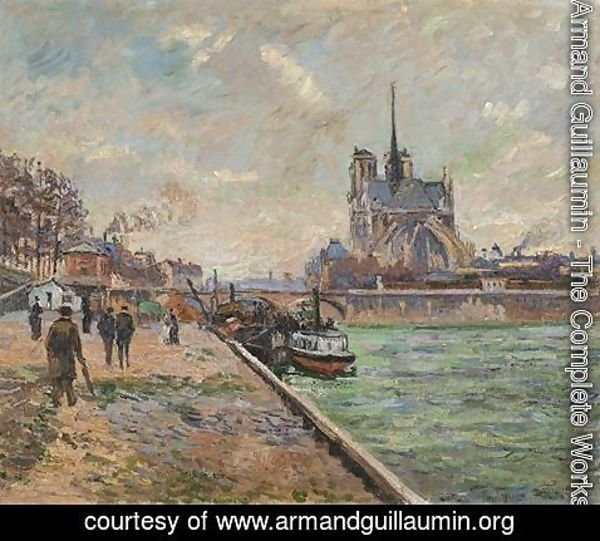 Armand Guillaumin - The Bridge of the Archibishops Palace and the Apse of Notre-Dame