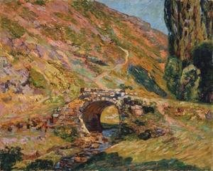 Armand Guillaumin - Bridge in the Mountains