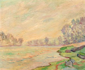 Armand Guillaumin - A tranquil river landscape
