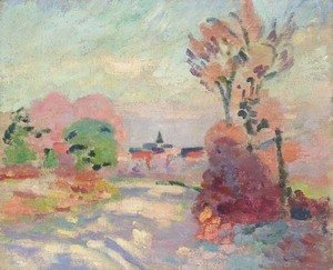 Armand Guillaumin - Matin d'automne a la campagne