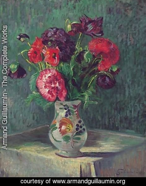 Armand Guillaumin - Nature Morte Au Vase De Fleurs