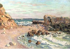 Armand Guillaumin - La Pierriere A Saint-Palais, Maree Montante