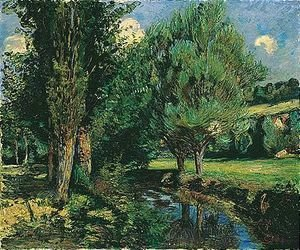 Armand Guillaumin - Trees by a river