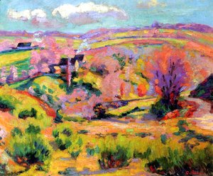 Armand Guillaumin - Landscape of Creuse at spring