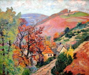 Armand Guillaumin - Mountain Landscape - Pontgibaud, village in Peschadoire