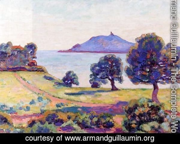 Armand Guillaumin - Agay  The Chateau And The Signal Tower