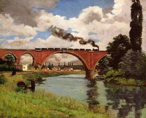 Armand Guillaumin - Bridge Over The Marne At Joinville