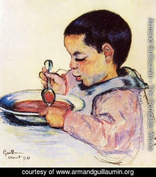 Armand Guillaumin - Child Eating Soup