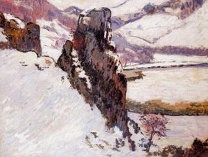 Armand Guillaumin - Landscape   The Creuse In The Snow