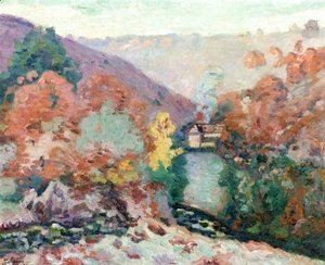 Armand Guillaumin - Landscape Of La Cruese  La Folie