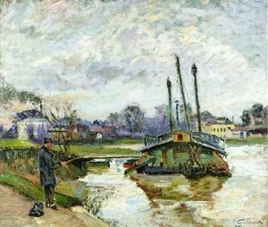 Armand Guillaumin - Laundry Boat At Charenton
