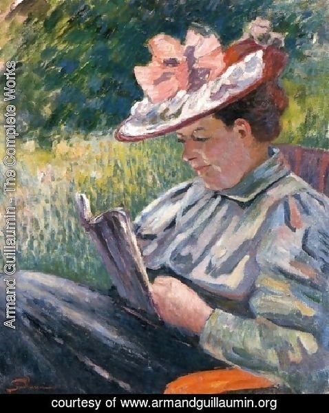 Madame Guillaumin Reading In The Garden
