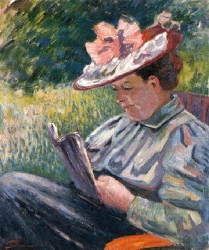 Armand Guillaumin - Madame Guillaumin Reading In The Garden