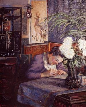 Armand Guillaumin - Madame Guillaumin Writing