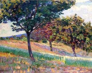 Armand Guillaumin - Orchard At The Edge Of The Woods In Saint Cheron