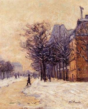 Armand Guillaumin - Passers By In Paris In Winter