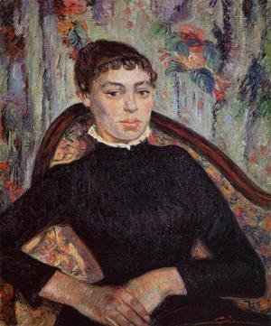 Armand Guillaumin - Portrait Of A Young Girl