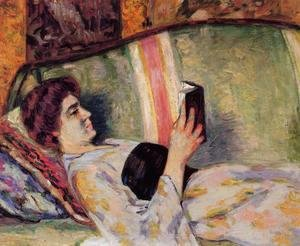 Armand Guillaumin - Portrait Of Marguerite Guillaumin Reading