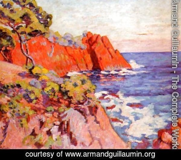 Armand Guillaumin - Rocks On The Coast At Agay