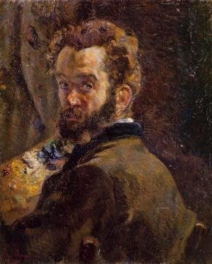 Armand Guillaumin - Self Portrait With Easel