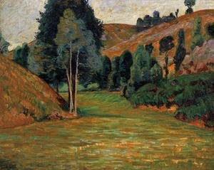 Armand Guillaumin - Small Valley At Pontgibaud