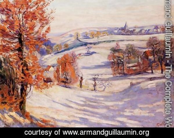 Armand Guillaumin - Snow At Crozant
