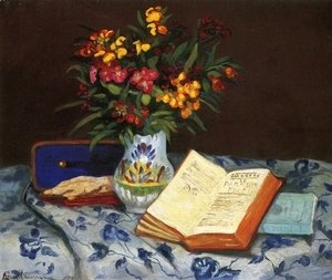 Armand Guillaumin - Still Life With Box With Blue Gloves