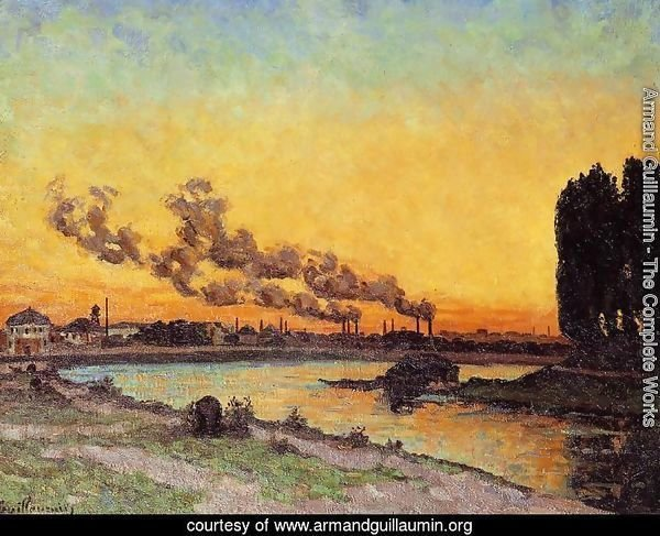 Sunset At Ivry 1873
