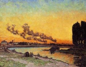 Armand Guillaumin - Sunset At Ivry 1873
