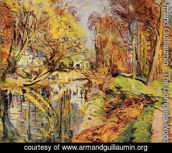 Armand Guillaumin - The Banks Of The Orge At Epiney  Ile De France
