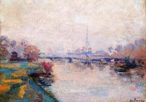 The Banks Of The Seine At Paris