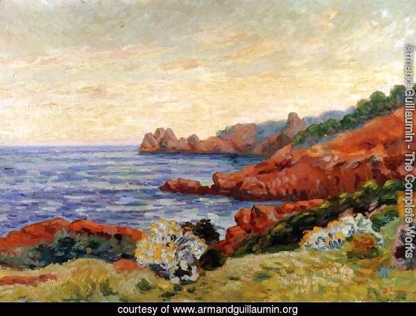 The Red Rocks At Agay