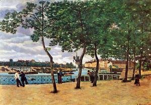 Armand Guillaumin - The Seine At Paris Aka Quai De La Rapee