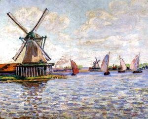 Armand Guillaumin - Windmills In Holland