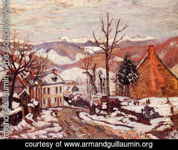 Armand Guillaumin - Winter In Saint Sauves Aka Auvergne