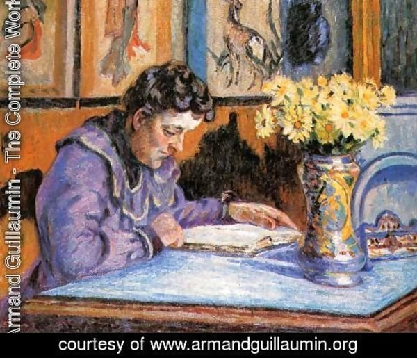 Armand Guillaumin - Woman Reading